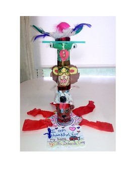 Thankful Multi-Tiered Family Totem Pole and Book