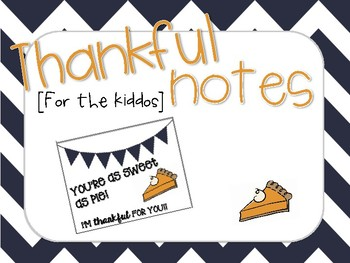 Thankful Note for Kiddos