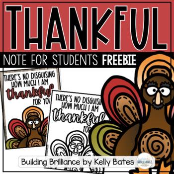 {FREEBIE} Thanksgiving Thankful Notes