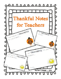 Thankful Notes for Teachers