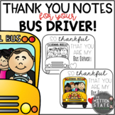 Thank You Notes for the Bus Driver FREEBIE
