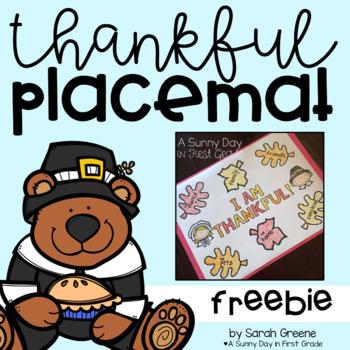 Thankful Placemat (freebie!)