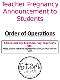 Thankful Pregnancy Announcement - Order of Operations