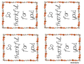Thankful Printable Tags