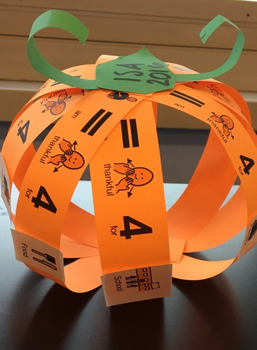 Thankful Pumpkin Project-Adapted for Special Ed