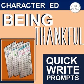 Thankful Quick Write