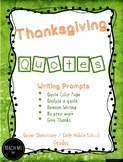 Thanksgiving Quotes Writing Prompts