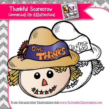 Thankful Scarecrow Freebie