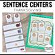 Sentence Building Center Cards Thanksgiving