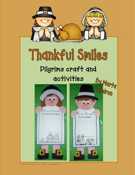 Thankful Smiles- Pilgrims Craft and Activities