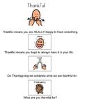 Thankful Social Story & Activity