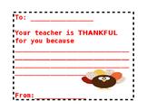 Thankful Teacher Card