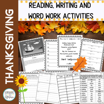 Thanksgiving:  Thankful Thanksgiving Fun for Grades 2-4 Ready to Print and Use