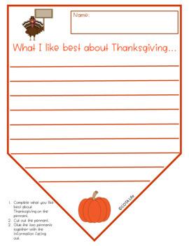 Thankful Thanksgiving Pennants