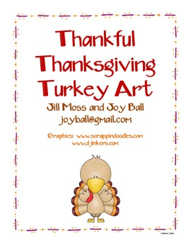 Thankful Thanksgiving Turkey Art