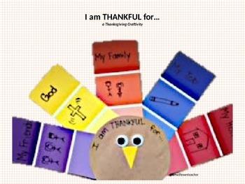 Thankful Thanksgiving Turkey Craftivity
