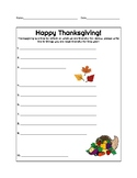 Thankful Thanksgiving Worksheets