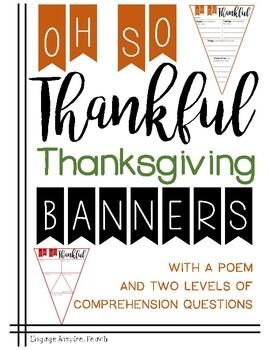 Thankful Thanksgiving Writing Banner
