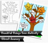 Thankful Things Gratitude Tree Thanksgiving Activity