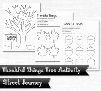 Thankful Things Gratitude Tree Thanksgiving Activity
