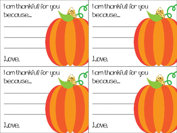 Thankful Thought Notes