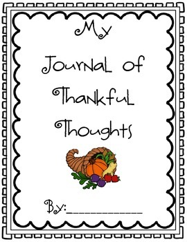 Thankful Thoughts Journal