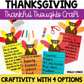 Thankful Thoughts Thanksgiving Banner Craftivity