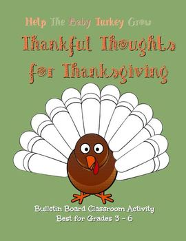Thanksgiving Activity for the Bulletin Board Grades 3 - 6