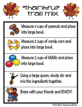 Thankful Trail Mix - No Cook Recipe