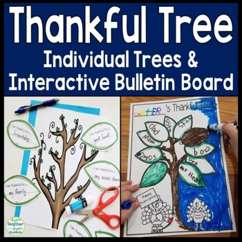 Thankful Tree Activity: Individual Trees & Interactive Bul