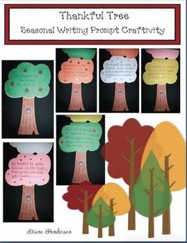 Thankful Tree Seasonal Writing Prompt Craftivity