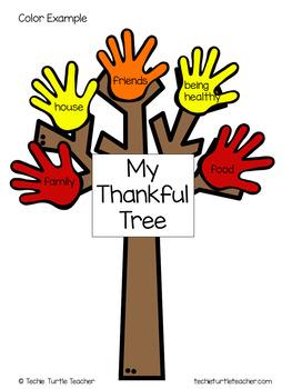 Thankful Tree - Thanksgiving Activity