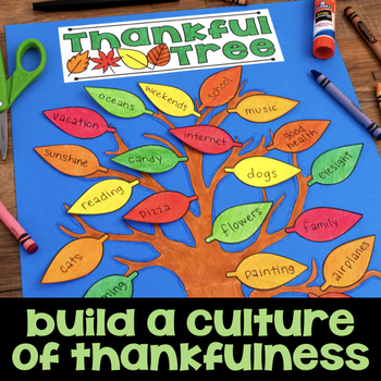 Thankful Tree - Thanksgiving Craftivity - November Craft