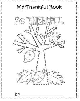 Thankful Tree Writing and Art Activity