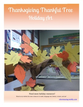 Thankful Trees - Thanksgiving Art