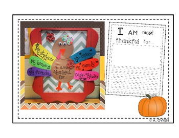 Thankful Turkey (A Craftivity About Being Thankful)