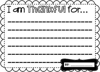 Thankful Turkey ~ A Writing Craftivity!