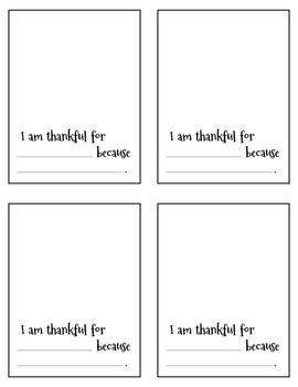 I Am Thankful For - Turkey Book Craftivity