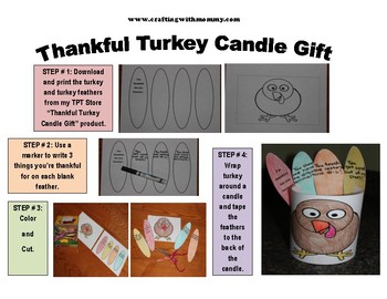 Thankful Turkey Candle Gift & Centerpiece