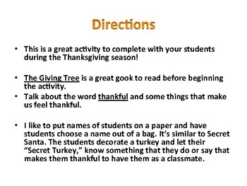 Thankful Turkey Classmate Exchange