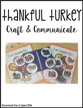 Thankful Turkey Craft & Communicate Series