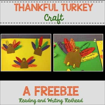 FREEBIE Thanksgiving Thankful Turkey Craft