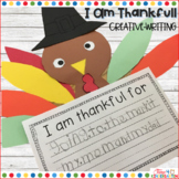 Thankful Turkey Writing Craft Activity