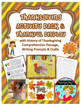 Thanksgiving Activity and Bulletin Board Display