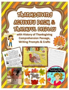 Thanksgiving Activity and Bulletin Board Display