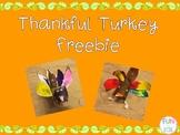 Thankful Turkey Freebie