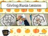 Thankful Turkey Lesson Plan