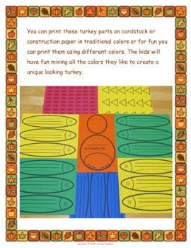 Thankful Turkey: Thanksgiving Art Lesson and Thanksgiving Writing Prompt