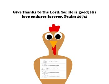 Thankful Turkey Placemat