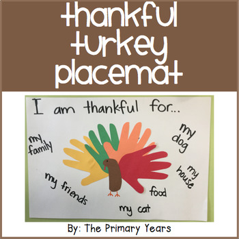 Thankful Turkey Placemats